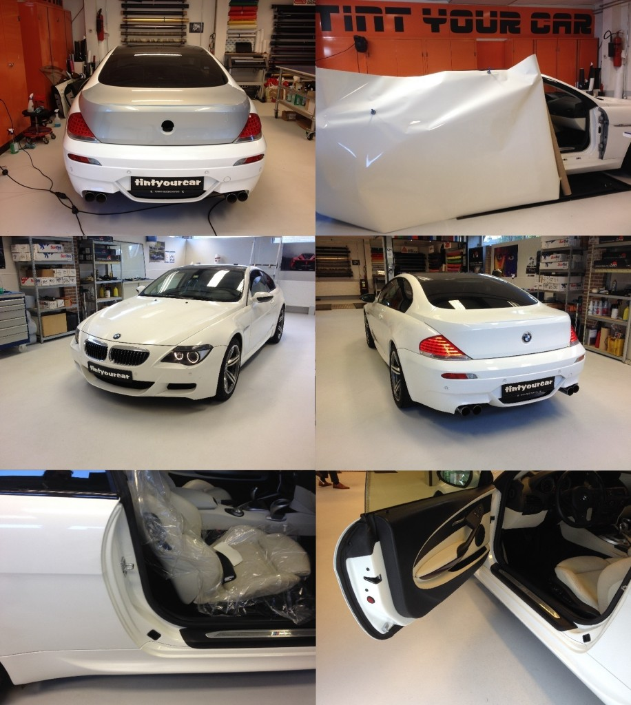 Autowrappen BMW M6 bij Tint your car