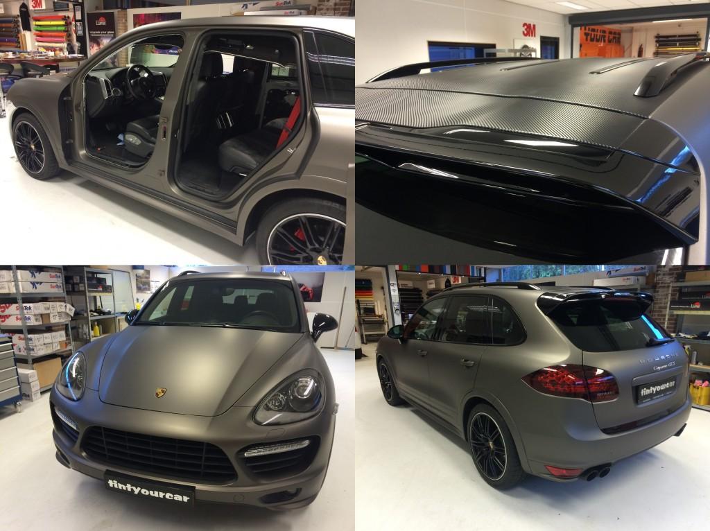 Autowrappen Porsche Cayenne bij Tint your car