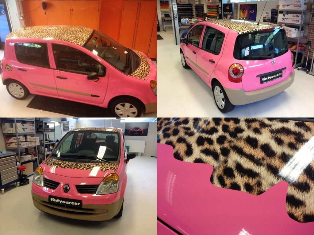 autowrappen Renault Modus roze
