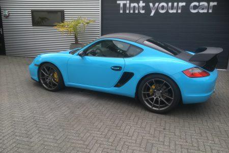 Porsche Cayman Gulf blauw