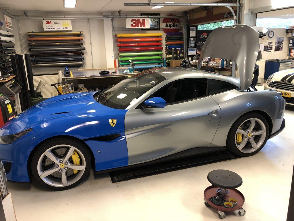 car wrap Ferrari Portofino