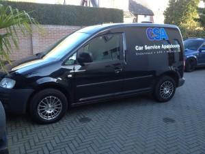 autoramen-tinten Volkswagen Caddy.