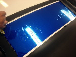 wrappen interieur Mini blauw 1