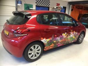 auto design bloemen