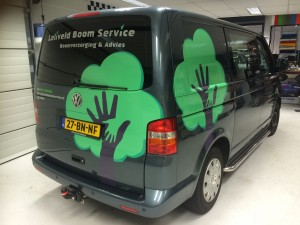 belettering-reclame Leliveld Boom Service