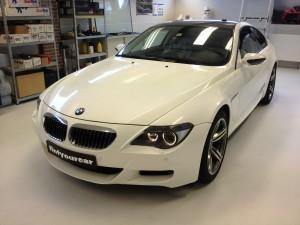 BMW M6 autowrappen van zilver naar diamant 3