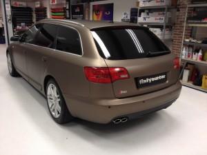 autowrappen bruin Audi S6 1