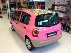 autowrappen roze panter Renault 1