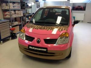 autowrappen roze panter Renault 12